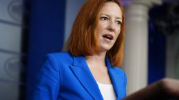 White House press secretary Jen Psaki speaks during a press briefing at the White House, Wednesday, March 24, 2021, in Washington. (AP Photo/Evan Vucci)