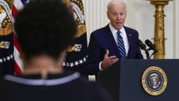 Joe Biden speaks during a news conference in the East Room of the White House, Thursday, March 25, 2021, in Washington. (AP Photo/Evan Vucci)