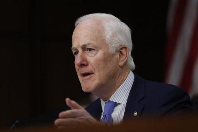 Senate Judiciary Committee member Sen. John Cornyn, R-Texas, speaks during the committee's confirmation hearing for Supreme Court Justice nominee Neil Gorsuch. (Pablo Martinez Monsivais/AP)