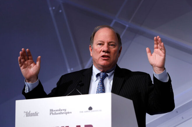 DETROIT, MI - OCTOBER 29: Detroit Mayor Mike Duggan speaks at CityLab Detroit, a global city summit, on October 29, 2018 in Detroit, Michigan. The summit aims to fuel innovation and improve the quality of urban life for all residents. (Photo by Bill Pugliano/Getty Images)
