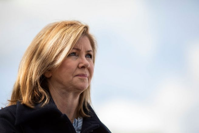 FRANKLIN, TN - NOVEMBER 3: U.S. Rep. Marsha Blackburn (R-TN), Republican candidate for U.S. Senate, attends Franklin Family Day at Harlinsdale Farm, November 3, 2018 in Franklin, Tennessee. Blackburn, who represents Tennessee's 7th Congressional district in the U.S. House, is running in a tight race against Democratic candidate Phil Bredesen, a former governor of Tennessee. The two are competing to fill the Senate seat left open by Sen. Bob Corker (R-TN), who opted to not seek reelection. (Photo by Drew Angerer/Getty Images)