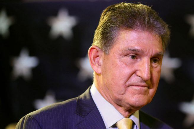 CHARLESTON, WV - NOVEMBER 06: Sen. Joe Manchin (D-WV) celebrates at his election day victory party at the Embassy Suites on November 6, 2018 in Charleston, West Virginia. Manchin won his second full Senate term after he defeated West Virginia Republican Senate Candidate Patrick Morrisey. (Photo by Patrick Smith/Getty Images)