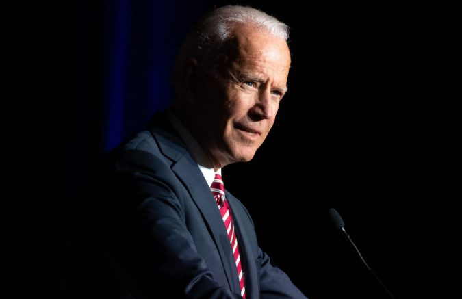 Former US Vice President Joe Biden speaks during the First State Democratic Dinner in Dover, Delaware, on March 16, 2019. (Photo by SAUL LOEB / AFP) (Photo by SAUL LOEB/AFP via Getty Images)