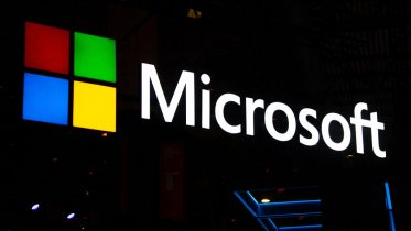 BARCELONA, SPAIN - FEBRUARY 26: A logo sits illumintated outside the Microsoft booth on day 2 of the GSMA Mobile World Congress 2019 on February 26, 2019 in Barcelona, Spain. The annual Mobile World Congress hosts some of the world's largest communications companies, with many unveiling their latest phones and wearables gadgets like foldable screens and the introduction of the 5G wireless networks. (Photo by David Ramos/Getty Images)