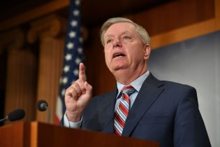 Senate Judiciary Committee Chairman Lindsey Graham, R-SC, speaks during a press conference on US Attorney General William Barr's summary of the Mueller report at the US Capitol in Washington, DC on March 25, 2019. (Photo by Mandel NGAN / AFP) (Photo by MANDEL NGAN/AFP via Getty Images)