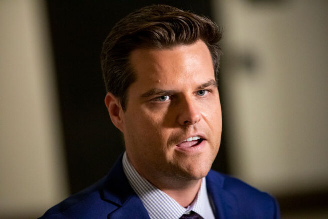 GOP Rep. Gaetz Investigated Over Sexual Relationship