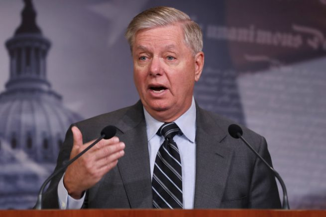 WASHINGTON, DC - DECEMBER 09: Senate Judiciary Committee Chairman Lindsey Graham (R-SC) holds a news conference following the release of the Department of Justice's inspector general report on FBI investigation of Donald Trump's presidential campaign at the U.S. Capitol December 09, 2019 in Washington, DC. Inspector General Michael Horowitz will testify before Graham's committee about his report examining authorities' use of their surveillance powers in the Russia investigation. (Photo by Chip Somodevilla/Getty Images)