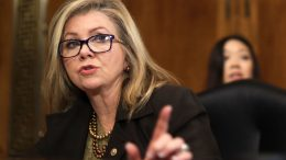"WASHINGTON, DC - DECEMBER 10: U.S. Sen. Marsha Blackburn (R-TN) speaks during a hearing before Senate Judiciary Committee December 10, 2019 on Capitol Hill in Washington, DC. The committee held a hearing on ""Encryption and Lawful Access: Evaluating Benefits and Risks to Public Safety and Privacy."" (Photo by Alex Wong/Getty Images)"