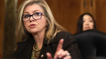 """WASHINGTON, DC - DECEMBER 10: U.S. Sen. Marsha Blackburn (R-TN) speaks during a hearing before Senate Judiciary Committee December 10, 2019 on Capitol Hill in Washington, DC. The committee held a hearing on """"Encryption and Lawful Access: Evaluating Benefits and Risks to Public Safety and Privacy."""" (Photo by Alex Wong/Getty Images)"""