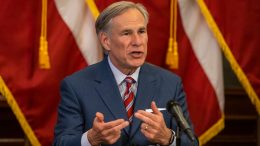 AUSTIN, TX - MAY 18: (EDITORIAL USE ONLY) Texas Governor Greg Abbott announces the reopening of more Texas businesses during the COVID-19 pandemic at a press conference at the Texas State Capitol on May 18, 2020 in Austin, Texas. Abbott said that childcare facilities, youth camps, some professional sports, and bars may now begin to fully or partially reopen their facilities as outlined by regulations listed on the Open Texas website. (Photo by Lynda M. Gonzalez-Pool/Getty Images)