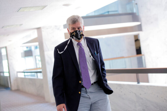 WASHINGTON, DC - JUNE 30: U.S. Sen. Bill Cassidy (R-LA) arrives for the weekly Senate Republican policy luncheon in the Hart Senate Office Building on June 30, 2020 in Washington, DC. (Photo by Stefani Reynolds/Getty Images)