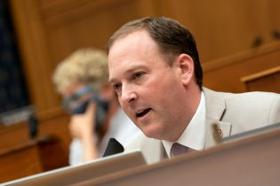 WASHINGTON, DC - SEPTEMBER 16: Representative Lee Zeldin, (R-NY) right, speaks during a House Foreign Affairs Committee hearing on September 16, 2020 in Washington, DC. The hearing is investigating the firing of State Department Inspector General Steve Linick. (Photo by Stefani Reynolds-Pool/Getty Images)