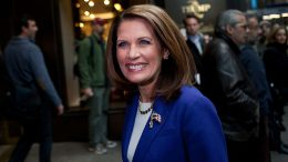NEW YORK, NY - NOVEMBER 21: Republican presidential candidate U.S. Rep Michele Bachmann (R-MN) arrives for a meeting with Donald Trump as she enters Trump Tower on 5th Avenue on November 21, 2011 in New York City. This is Bachman's fourth meeting withe the developer and reality TV star since she started running for president. (Photo by Andrew Burton/Getty Images)