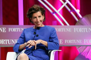 WASHINGTON, DC - OCTOBER 13: Governor of Rhode Island Gina Raimondo speaks onstage during Fortune's Most Powerful Women Summit - Day 2 at the Mandarin Oriental Hotel on October 13, 2015 in Washington, DC. (Photo by Paul Morigi/Getty Images for Fortune/Time Inc)