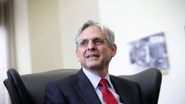 WASHINGTON, DC - MAY 10: Supreme Court nominee Merrick Garland, chief judge of the D.C. Circuit Court, during a meeting with U.S. Sen. Brian Schatz (D-HI) May 10, 2016 on Capitol Hill in Washington, DC. Garland continued to place visits to Senate members after he was nominated by President Barack Obama to succeed the late Justice Antonin Scalia. (Photo by Alex Wong/Getty Images)