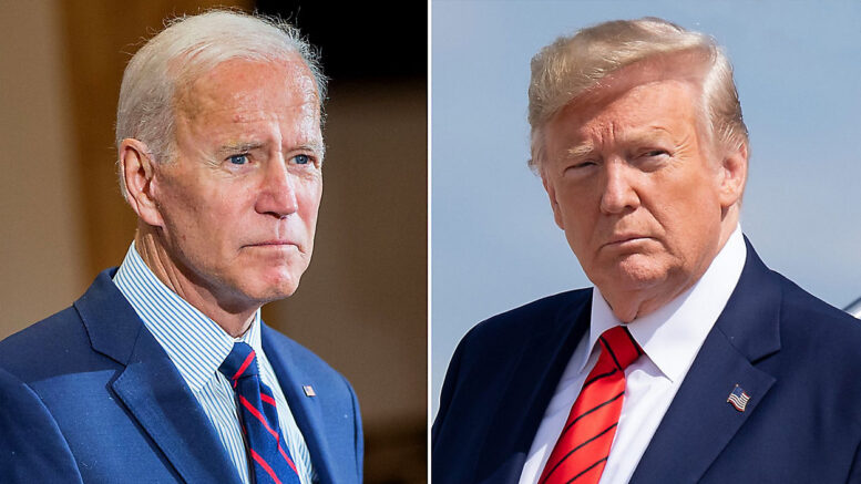 Joe Biden (left), Donald Trump (right) -- AP Photos)
