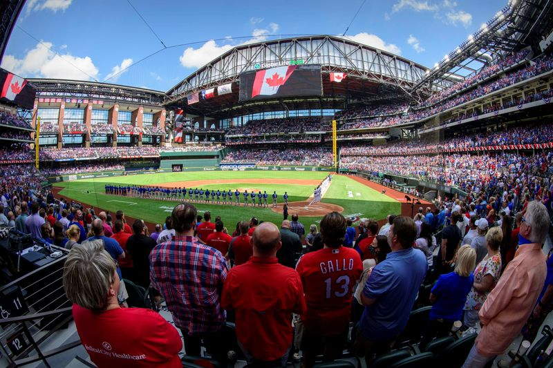 MLB: Toronto Blue Jays at Texas Rangers