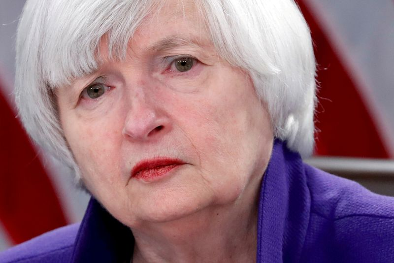 FILE PHOTO: FILE PHOTO: Yellen holds a news conference in Washington
