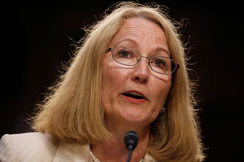 Susanne Lyons, Acting Chief Executive Officer of United States Olympic Committee testifies before a Commerce Subcommittee hearing entitled