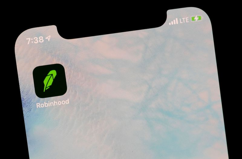 The Robinhood App is displayed on a screen