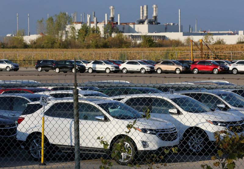 FILE PHOTO: Chevrolet Equinox SUVs are parked awaiting shipment near the General Motors Co (GM) CAMI assembly plant in Ingersoll