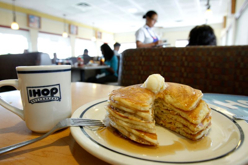 FILE PHOTO: A stack of pancakes are pictured at an IHOP restaurant in Los Angeles