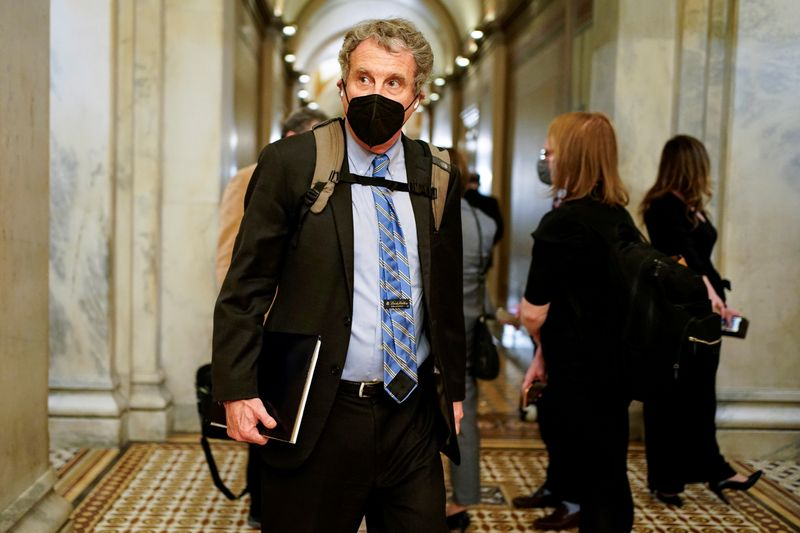FILE PHOTO: U.S. Senator Sherrod Brown pictured in Washington