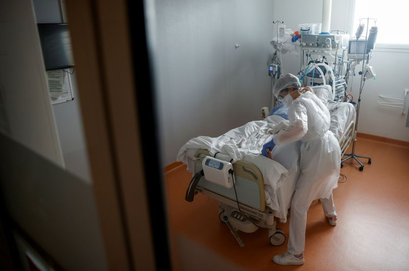 FILE PHOTO: ICU for COVID-19 patients in Vannes