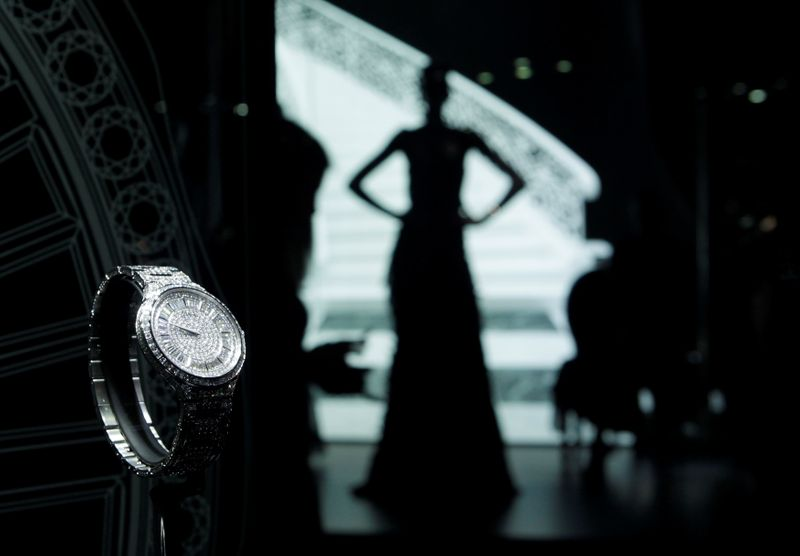 FILE PHOTO: A model is displayed on the Piaget booth at the SIHH exhibition at the Palexpo in Geneva