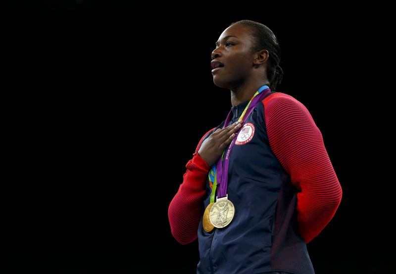 Boxing - Women's Middle (75kg) Victory Ceremony