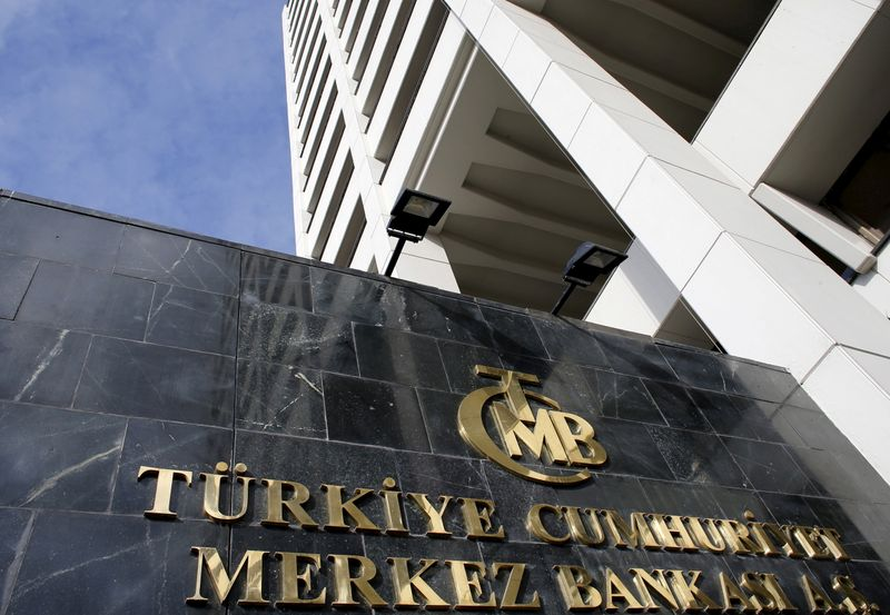FILE PHOTO: File photo of Turkey's Central Bank headquarters is seen in Ankara