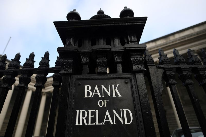 FILE PHOTO: General view of a branch of the Bank of Ireland in Dublin