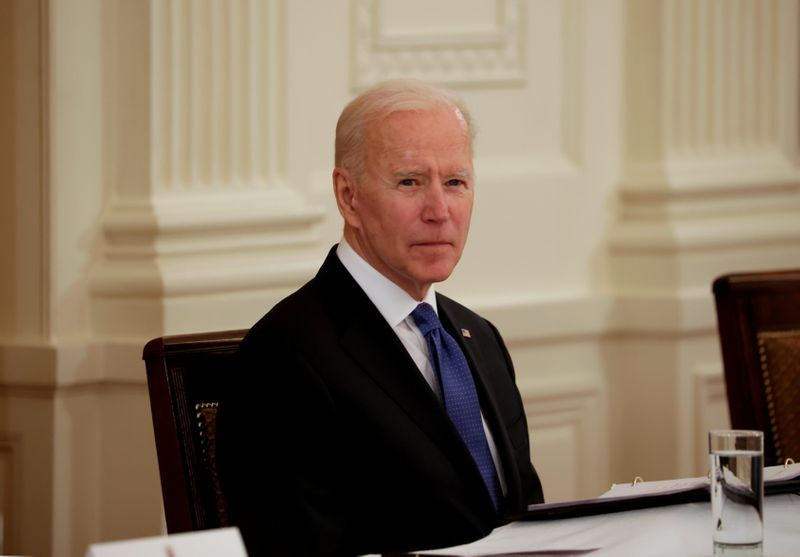 FILE PHOTO: U.S. President Biden holds first Cabinet meeting at the White House in Washington