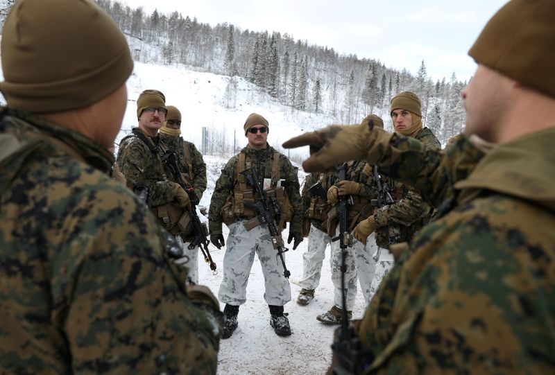 FILE PHOTO: On Norway's border with Russia, unease over military buildup