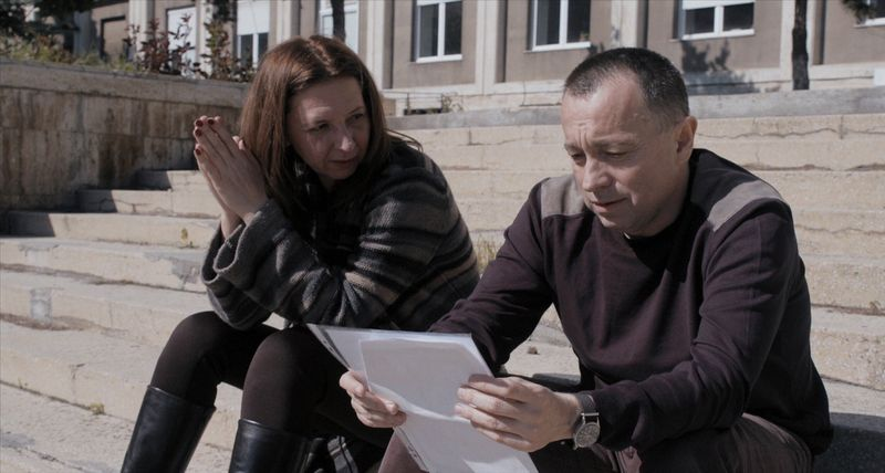 Journalists Mirela Neag (L) and Catalin Tolontan are seen in a still from the documentary