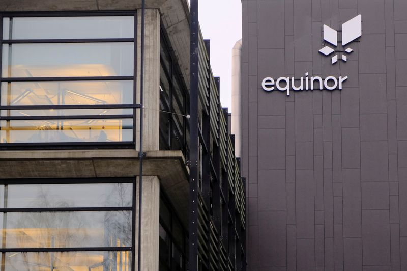 Equinor's logo is seen at the company's headquarters in Stavanger
