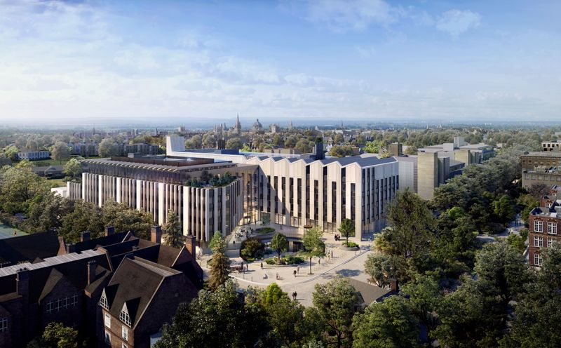 Computer-generated imagery of Oxford University's planned Life and Mind Building