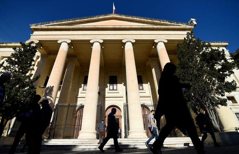 FILE PHOTO: A general view of Malta's Courts of Justice building in Valletta