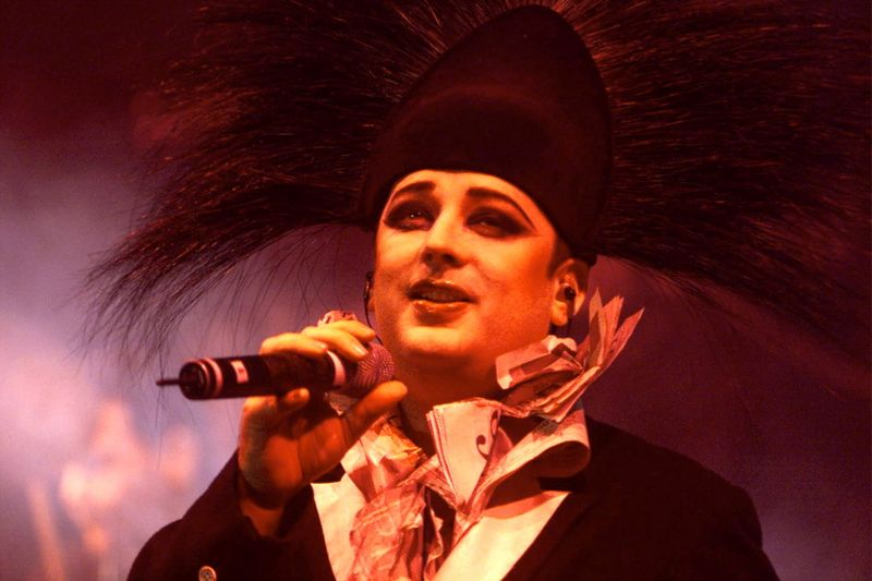 FILE PHOTO: BOY GEORGE PERFORMS IN SINGAPORE.