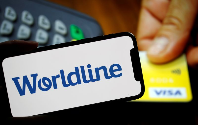 FILE PHOTO: Illustration picture shows a logo of payments company Worldline