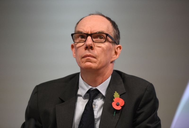 FILE PHOTO: Bank of England Deputy Governor for Markets and Banking, Dave Ramsden attends a Bank of England news conference, in the City of London