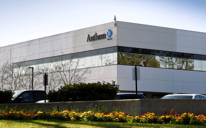 FILE PHOTO: The office building of health insurer Anthem is seen in Newbury Park, California