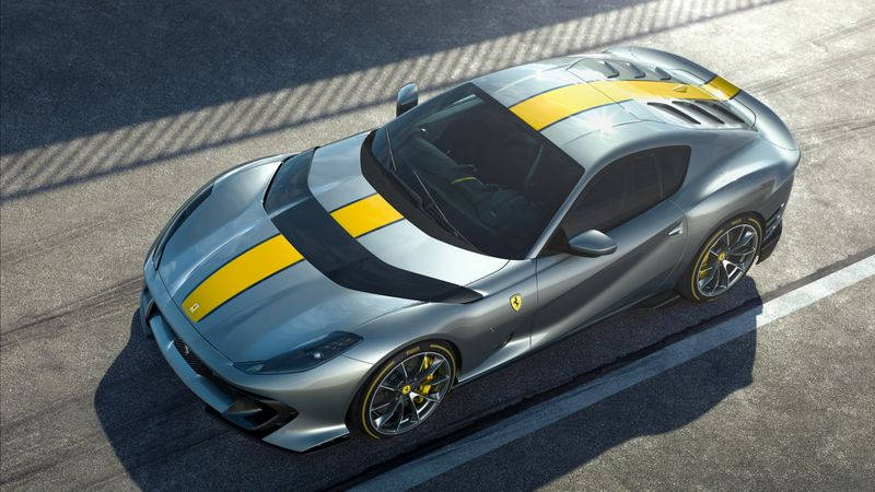 FILE PHOTO: Luxury sports car maker Ferrari unveils its new model
