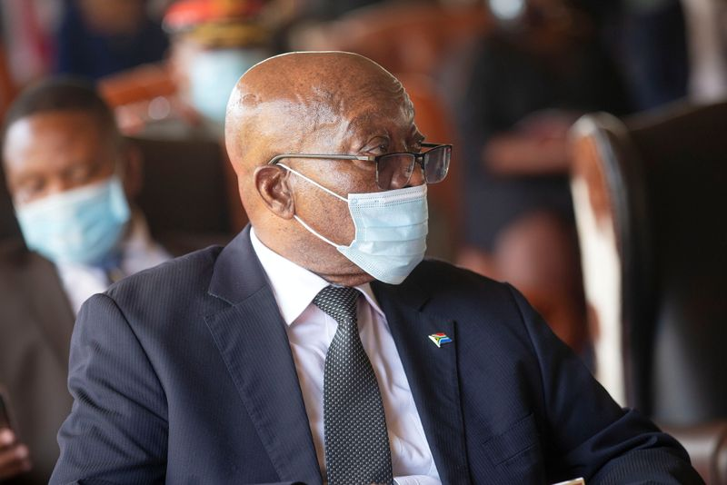 FILE PHOTO: Former South African President Jacob Zuma attends the memorial service for Zulu King Goodwill Zwelithini in Nongoma
