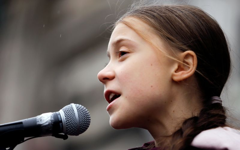 FILE PHOTO: Fridays For Future climate march in Lausanne