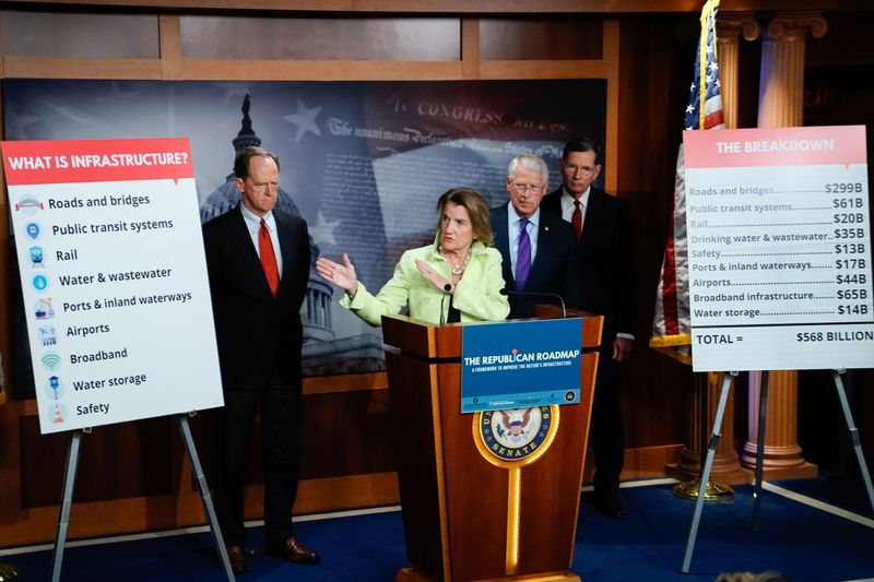 U.S. Republicans hold news conference introducing infrastructure plan, in Washington
