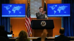 State Department spokesman Ned Price takes questions from reporters at the State Department in Washington, Wednesday, March 31, 2021. (AP Photo/Carolyn Kaster, Pool)