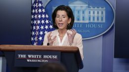 Commerce Secretary Gina Raimondo speaks during a press briefing at the White House, Wednesday, April 7, 2021, in Washington. (AP Photo/Evan Vucci)