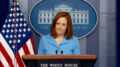 White House press secretary Jen Psaki takes a question at a press briefing at the White House, Thursday, April 8, 2021, in Washington. (AP Photo/Andrew Harnik)