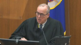 In this image from video, Hennepin County Judge PeterCahill discusses motions before the court Monday, April 12, 2021, in the trial of former Minneapolis police Officer Derek Chauvin at the Hennepin County Courthouse in Minneapolis. Chauvin is charged in the May 25, 2020 death of George Floyd. (Court TV via AP, Pool)